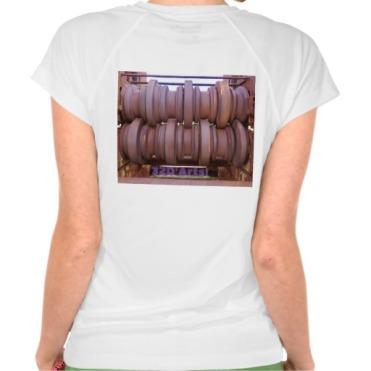 Piombino Castle Prison Yard Crusher, Women, Champion Double-Dry V-Neck T-Shirt, Back, Closeup, White