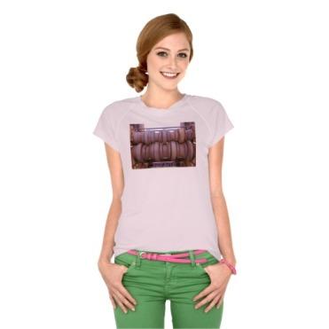 Piombino Castle Prison Yard Crusher, Women, Champion Double-Dry V-Neck T-Shirt, Front, Model, Pink