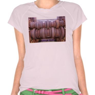 Piombino Castle Prison Yard Crusher, Women, Champion Double-Dry V-Neck T-Shirt, Front, Pink