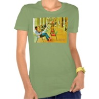 Pisa Afternoon at the Arcade, Women, Bella Favorite Jersey T-Shirt, Front, Leaf Green
