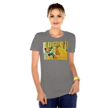 Pisa Afternoon at the Arcade, Women, Bella Favorite Jersey T-Shirt, Front, Model, Asphalt