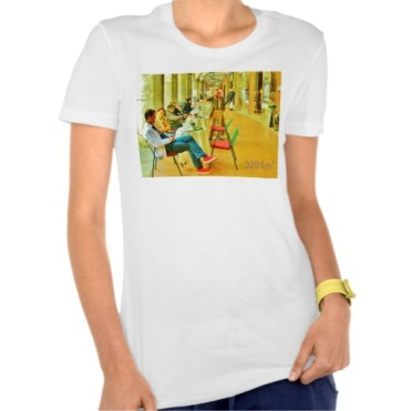 Pisa Afternoon at the Arcade, Women, Bella Favorite Jersey T-Shirt, Front, White