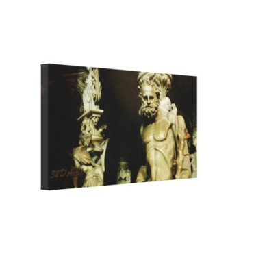 Pisa Cathedral Pulpit Pillar Statue, 26 x 14Wrapped Print Canvas Print, 24 x 16, left