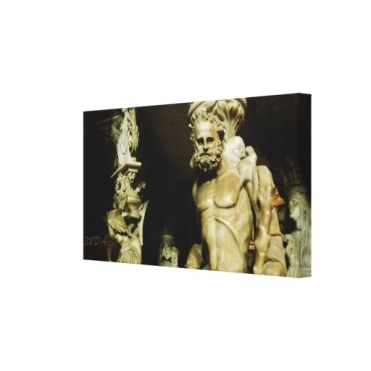 Pisa Cathedral Pulpit Pillar Statue, 26 x 14Wrapped Print Canvas Print, 24 x 16, right