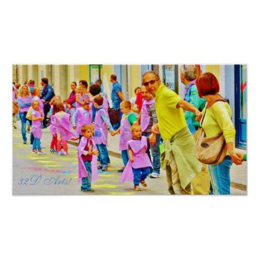 Pistoia Festival Awed Children, Poster Print, 18 x 10