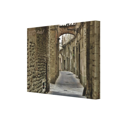 Pistoia Medieval Arched Alley, 22 x 16, Stretched Canvas Print, right