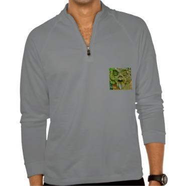 Pizzi Palace Boboli Garden Gargoyle, Men, Adidas ClimaLite Training Half Zip Pullover, Front, Grey