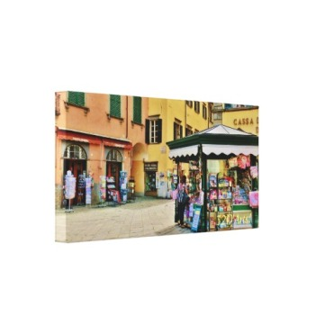 Pontremoli Newsstand Kiosk, 22 x 11, Wrapped Canvas Print, left