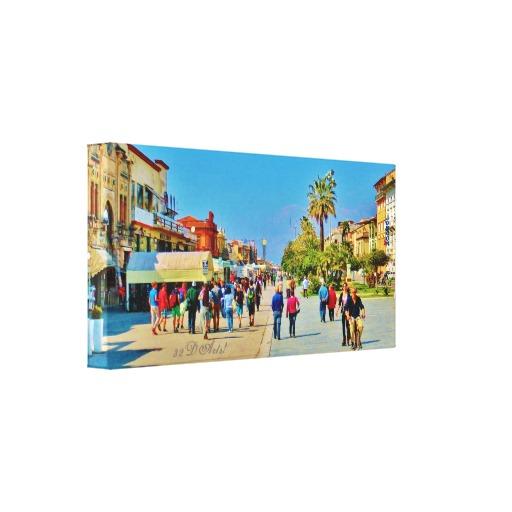 Promenade Parade, 18 x 9, Viareggio, Wrapped Canvas Print, left