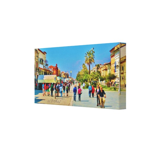 Promenade Parade, 18 x 9, Viareggio, Wrapped Canvas Print, right
