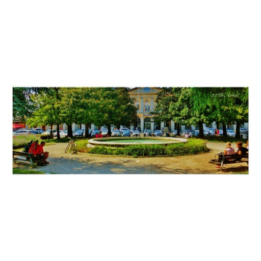 Shady Bench Thoughts Turn to Home, Poster Print, 30 x 11