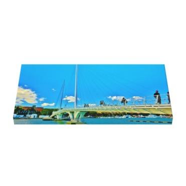 Sky Blue Bridge, 24 x 12, Wrapped Canvas Print, up