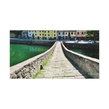 Straight Down Devil's Bridge, Wrapped Canvas Print, 26 x 14, center