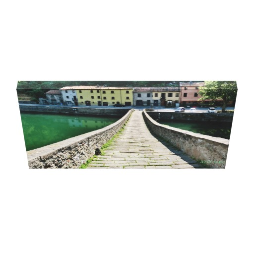 Straight Down Devil's Bridge, Wrapped Canvas Print, 26 x 14, down