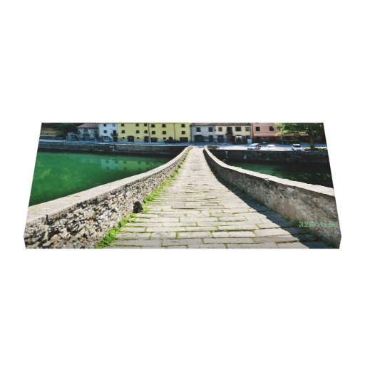 Straight Down Devil's Bridge, Wrapped Canvas Print, 26 x 14, up