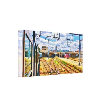 The Approach to Florence Station, 18 x 9,Wrapped Print Canvas Print, left
