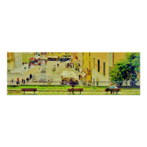 Three Benches, Pietrasanta, Poster Print, 22 x 7
