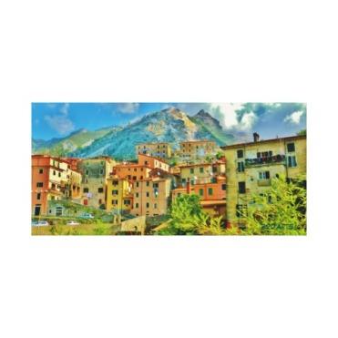Torano, Carrara, Italy, 24 x 11.5, Wrapped Canvas Print, center