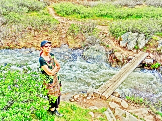 Kris, Roaring Fork River, Headwaters, Lost Man Trail.
