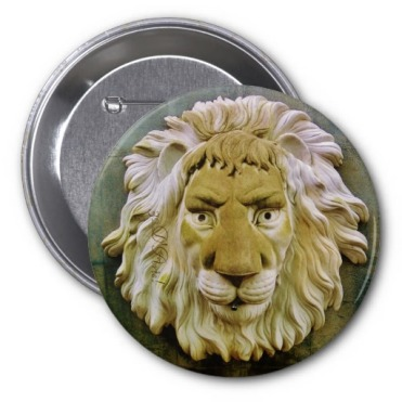 Lenny the Lion of Massa, 3 inch Round Button