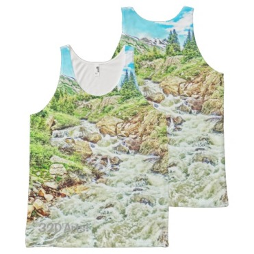 Roaring Fork Headwaters No 13. Sport Top All-Over Print Tank Top front back
