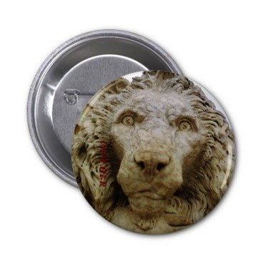 The Curious Lion of Massa, 2 and a Quarter Inch Round Button
