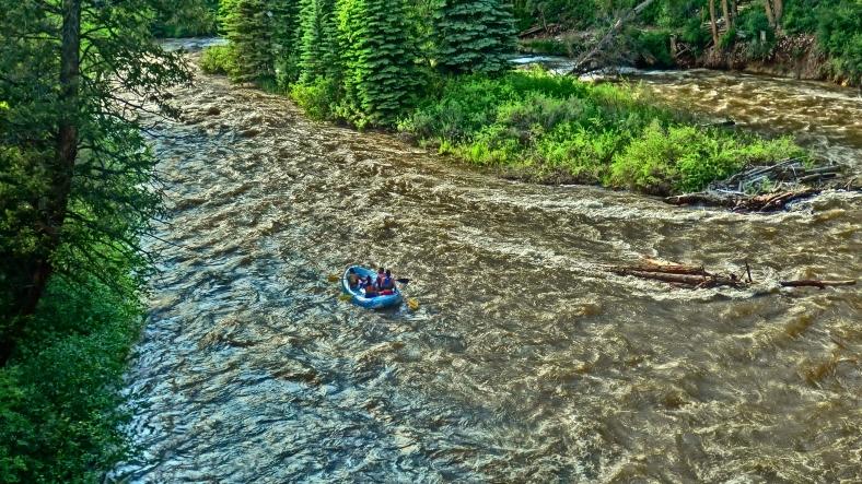 Roaring Fork River Rafters, at Ironbridge, Below Aspen
