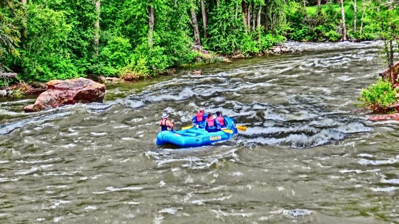 Roaring Fork River Rafters, Below Aspen