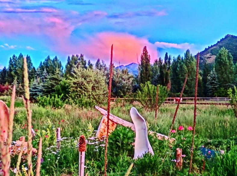 Sculpture Garden Twilight over Highlands Bowl