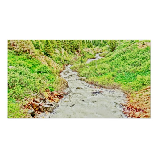 Roaring Fork River, Headwaters No. 14 Poster Print