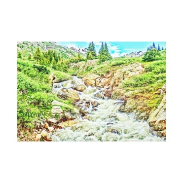 Roaring Fork River, Headwaters No. 3 Canvas Print center
