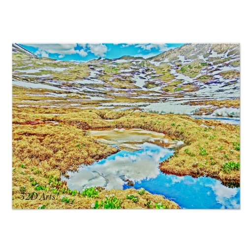 Roaring Fork River, Headwaters No. 7 Poster Print