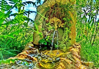 Green Man Solar Fountain
