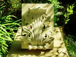 Acanthus Leaf, Portland Limestone Sculpture by Martin Cooney, stone sculptor