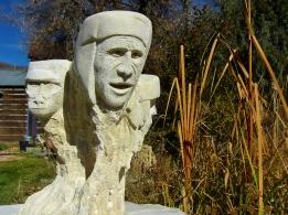 The Ice Palace Snowgoyles, Kansas Creme Limestone by Martin Cooney, Woody Creek, Colorado