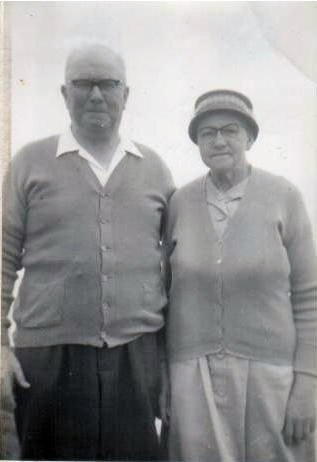 Granddad and Grandma 'Nanny' Cooney, of Preston, Lancashire