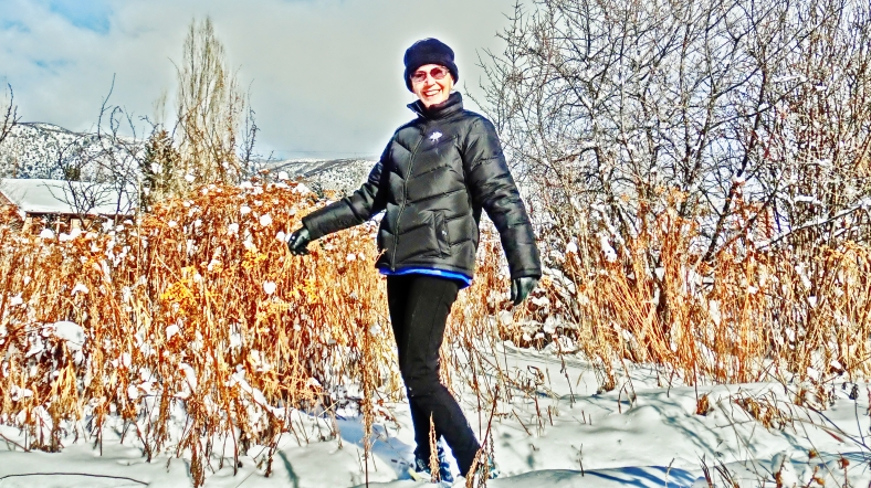 Kris Cooney takes to the Sculpture Garden Snow Shoe Trail