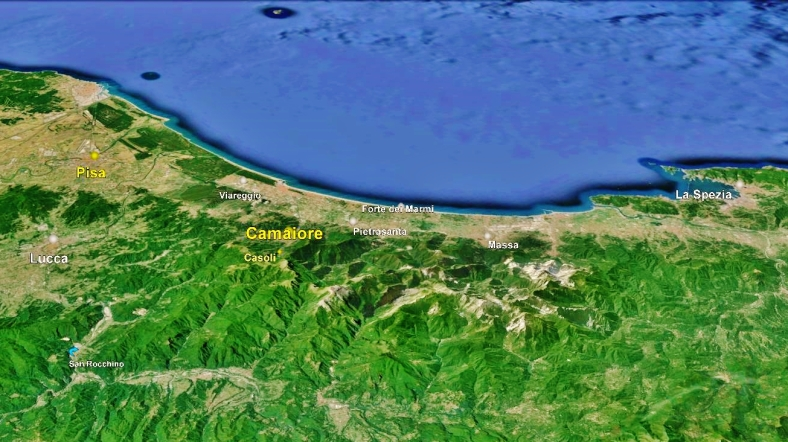 Camaiore Map Google Earth 3
