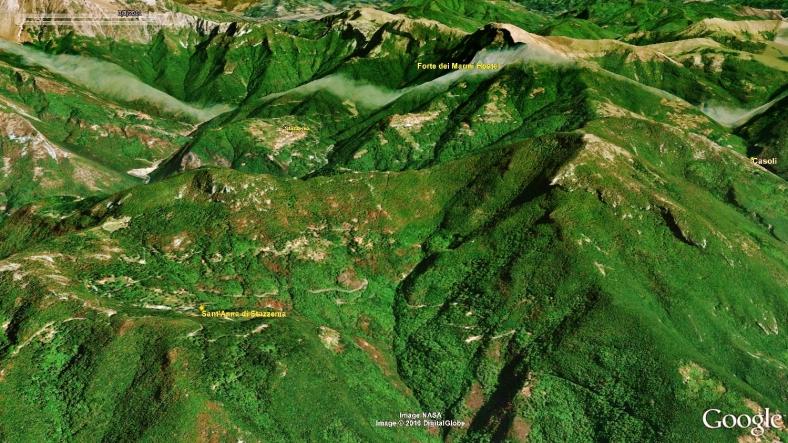 Forte dei Marmi Hostel, Map 4, Google Earth