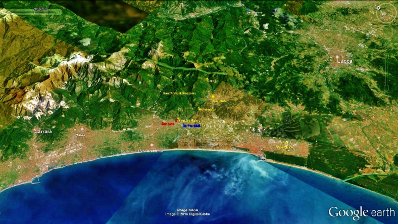 Forte dei Marmi Map 1, Google Earth