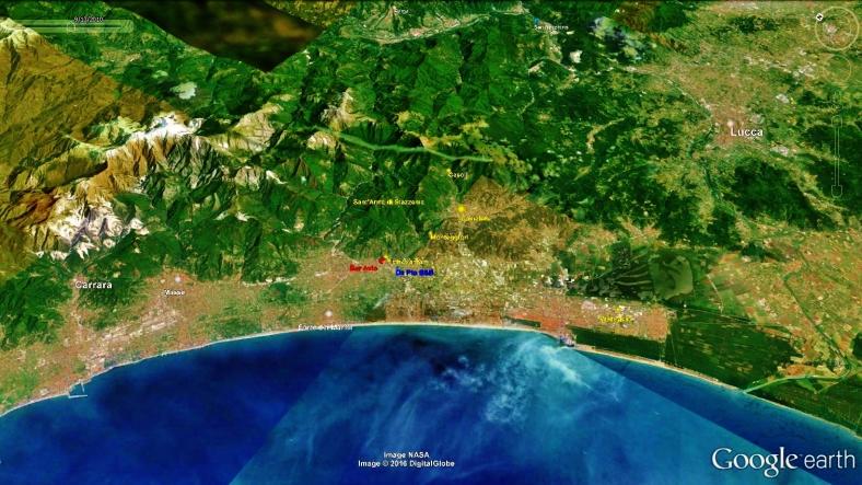 Forte dei Marmi Map 1, Google Earth