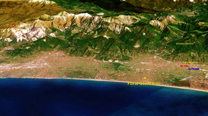 Forte dei Marmi Map 3, Google Earth