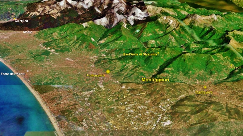 Monteggiori, Map 1, Google Earth