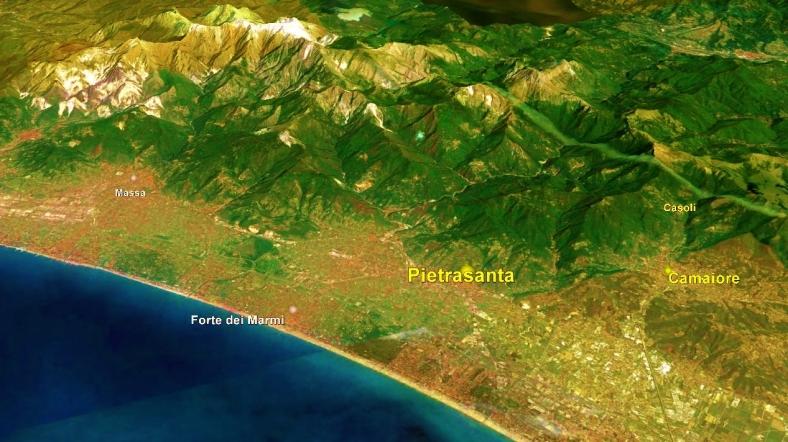 Pietrasanta Map 1 Google Earth