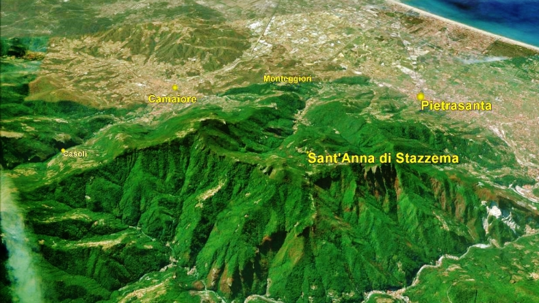 Sant'Anna di Stazzema, Map 2 Google Earth