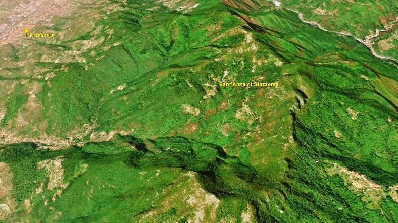 Sant'Anna di Stazzema, Map 4 Google Earth