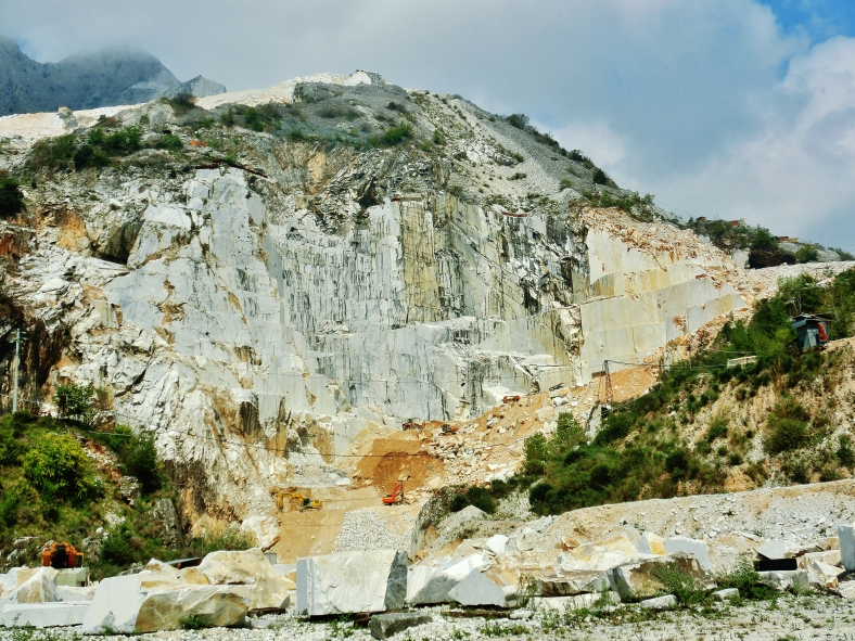 Carrara marble quarries on the Road to Colonnata