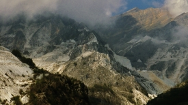 View from Colonnata, Lard Capitol of the World, Carrara, Italy