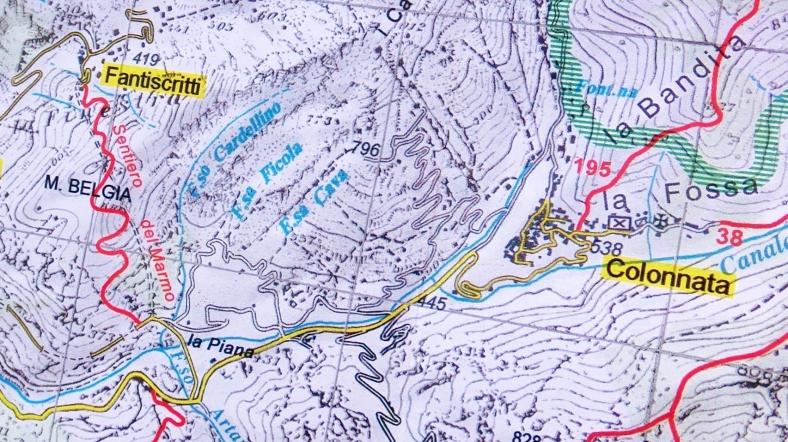 Colonnata, map of