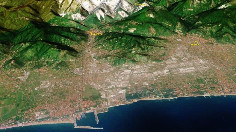 Carrara Marble Quarries Carrara Map 4 Google Earth